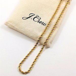 NEW J Crew gold chain necklace